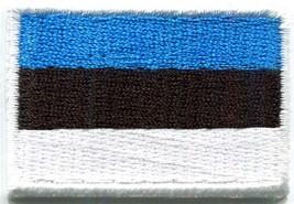Flag of Estonia Estonian embroidered applique iron-on patch Medium new S... - $2.27