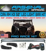 "No.1 Can-Am X3 50"" 5D Single Row 250W LED Light Bar Kit Can-am Maverick ... - $142.52"
