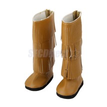 """Doll Brown Fringe Long Shoes Boots for 18"""" Amer... - $4.69"""