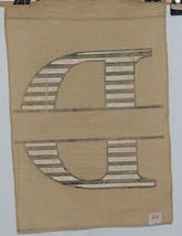 Kate Winston Brand Brown Burlap Monogram Black And White D Garden Flag image 2