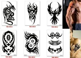 Dragon Temporary Tattoos Body Arm Sticker Half Sleeve Fake Waterproof (6 sheets) image 2