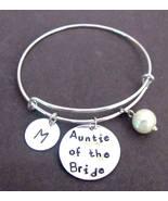 Auntie of the Bride Bracelet,Aunt of the Bride Bangle,Personalized Aunt ... - $17.00