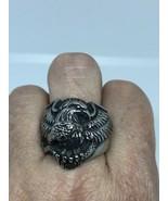 Vintage Argento Acciaio Inox Taglia 7 American Eagle Serpente - $34.65