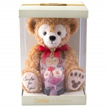 Tokyo Disney Sea 2019 Duffy Plush Toy with Preserved Flower Gift Red NEW - $134.87