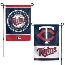 "MINNESOTA TWINS TEAM GARDEN WALL FLAG BANNER 12"" X 18"" 2 SIDED MLB BASEBALL - $13.92"