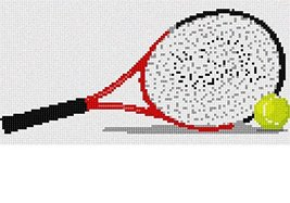 Tennis Racket Tennis Ball Needlepoint Kit - $65.59