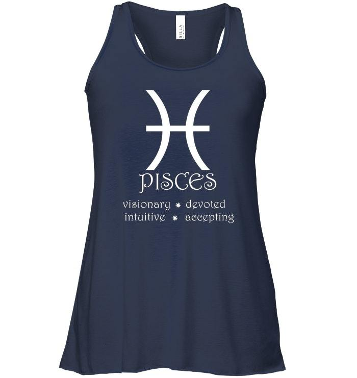 Pisces Zodiac Sign Horoscope Traits Star Astrology Flowy Racerback Tank image 2
