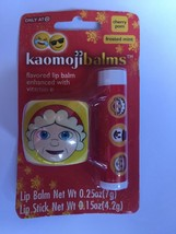 Kaomjibalms Lip balm Enhanced vitamin E Cherry Pom  Frosted Mint Santa S... - $3.95