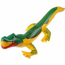 Inflatable Crocodile Blow Up Funny Water Toy Alligator Balloon Beach Pool - $13.49