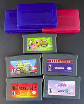 Nintendo Game Boy Advance Lot of 5 Games + 3 Cases Pac-Man Spongebob - $9.95