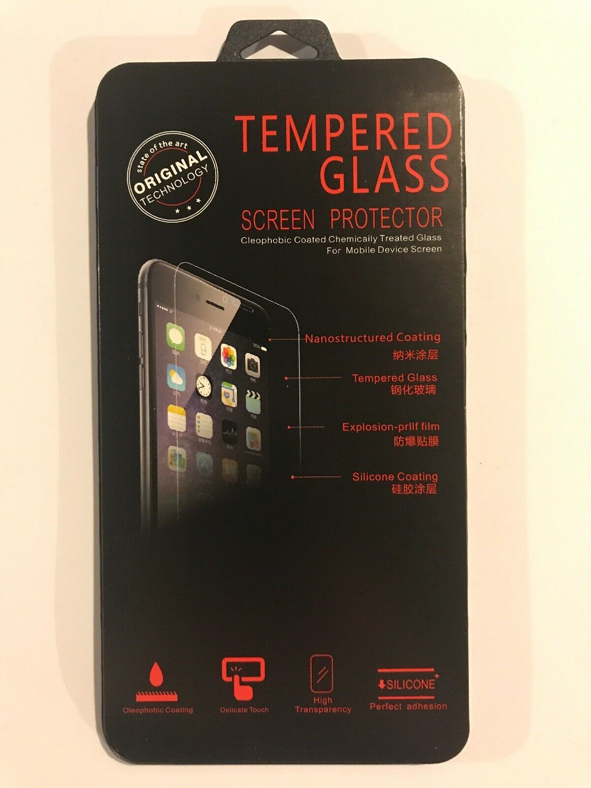 Primary image for Premium Tempered Glass Screen Protector for iPhone Samsung LG From NY USA