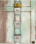 Country Wall Decor Decorative 3 Hanging Wall Pocket Storage Bins Vintage... - $39.11