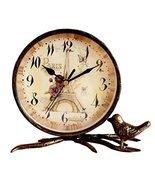 Black Temptation Classic European Style Mute Desktop&Mantle Clock Home D... - £35.29 GBP