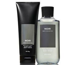 BATH & BODY WORKS Noir Body Cream & 2-In-1 Hair + Body Wash Set For Men - $27.53