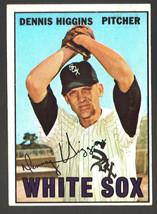 1967 Topps #52 Dennis Higgins White Sox Ex/Mt - $3.00