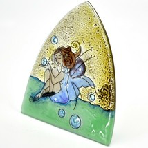 Fused Art Glass Garden Fairy Design Night Light Handmade in Ecuador image 2