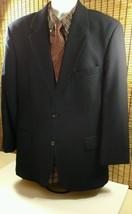 Ralph Lauren Polo Sports Wool Coat Blazer Blue 2 Button Suit Jacket Mens 44R - $35.59