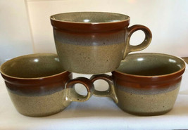 Vintage Mikasa Cups Mugs Country Cabin by Ben Seibel Set of 3 - $12.82