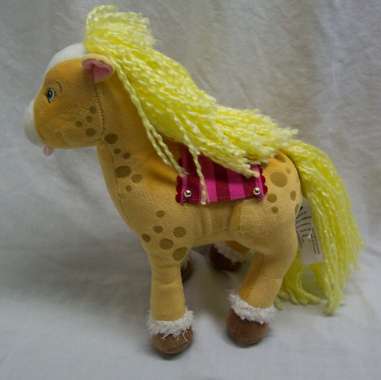"Primary image for Strawberry Shortcake HONEY PIE HORSE 10"" Plush STUFFED ANIMAL Toy 2004 Bandai"