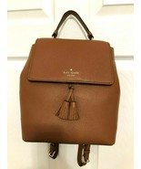 Kate Spade Hayes Medium Backpack Pebbled Leather Warm Gingerbread / Red ... - $127.71