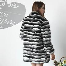 Women's Soft Luxury Chinchilla Faux Fur Winter Fashion Runway Coat