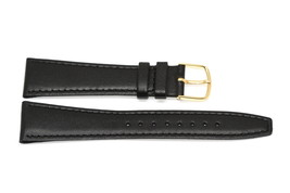 20 PIECES Timex 20mm Black Stitched Clik On Genuine Leather Watch Band Strap - $14.84