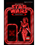 Star Wars Sith Darth Talon 001 Custom Lego Card Back w/Blister - No Mini... - $5.00