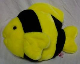 "TY Beanie Buddy BUBBLES THE YELLOW AND BLACK FISH 11"" Plush STUFFED ANIMAL - $19.80"