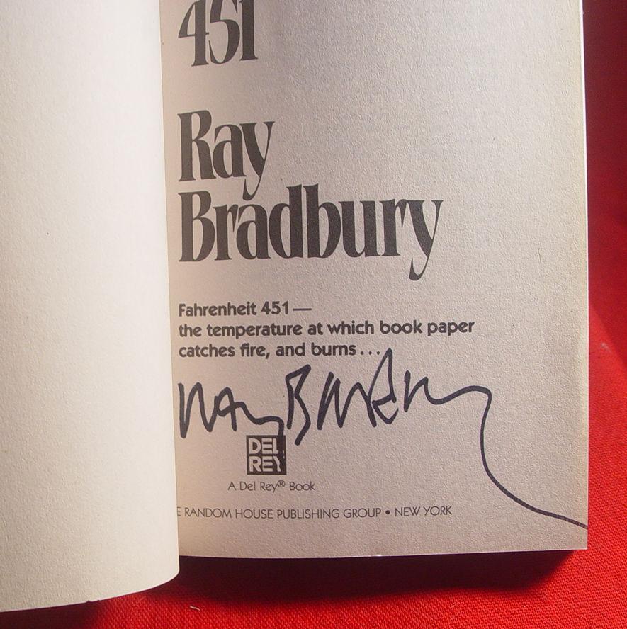 Ray Bradbury FAHRENHEIT 451 signed