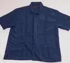 Cubavera Shirt Sz Large Blue 2 Pockets Lounge Laid Back Short Sleeve - $21.78