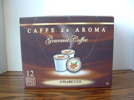 Caffe de Aroma Amaretto flavored 12 Single Serve K-Cups OK for 2.0 - $10.45