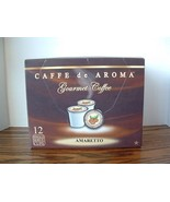 Caffe de Aroma Amaretto flavored 12 Single Serve K-Cups OK for 2.0 - $9.99