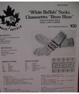 Vintage White Buffalo Socks Stockings Knitting Pattern - $6.99