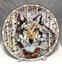 Wolf porcelain plate by Diana Casey 1st issue in the Kindred Spirit 1995... - $7.87