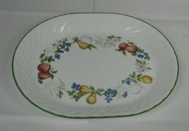 """Vintage Corelle Chutney Fruit Oval Serving Platter 12"""" Elegant Swirl Ret... - $14.84"""