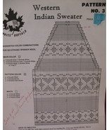 Vintage White Buffalo Indian Sweater Knitting Pattern - $6.99