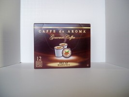 Caffe de Aroma Flavored Decaf. Hazelnut 12 Single Serve K-Cups Free Ship... - $10.45