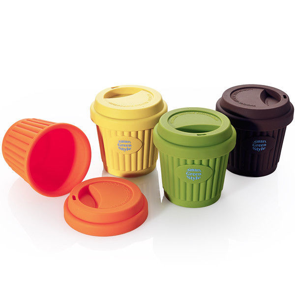 eco silicone cup mug 220ml portable cup for coffee water tea