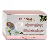 Patanjali Moisturizer Cream with, Shea Butter, Chamomile & Olive Oil 50 gm - $8.90