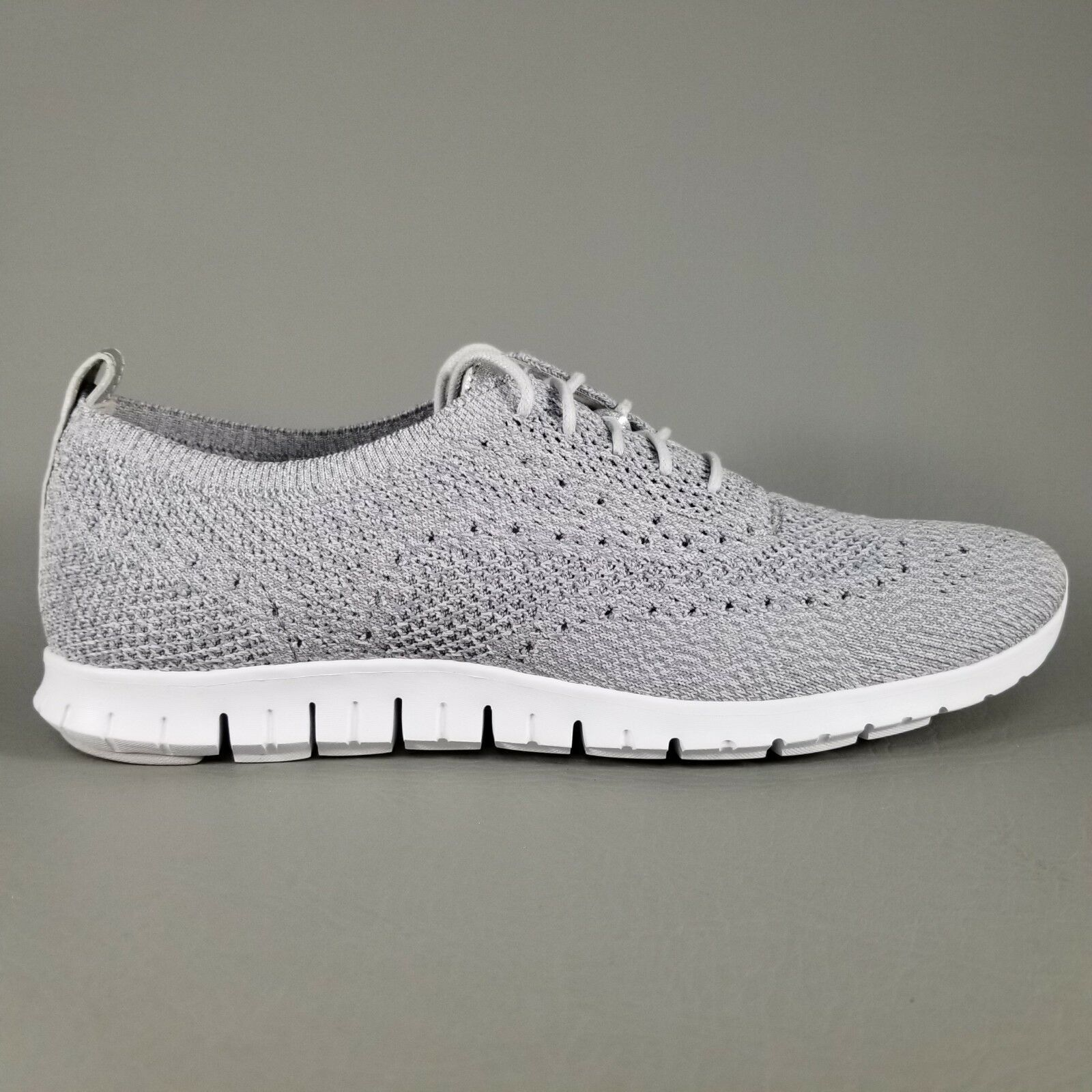 Cole Haan Womens ZeroGrand Stitchlite Wingtip Oxford Size 10 B Dress Shoes Gray