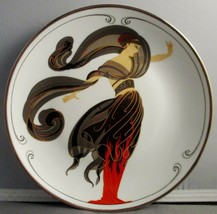 House of Erte Limited Edition Plate HA3639 Flames of Love - $49.50
