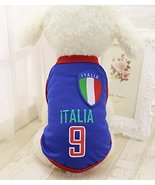 Dog Soccer Jersey – Italy World Cup Clothes Vest Shirt – For Small Mediu... - $5.89