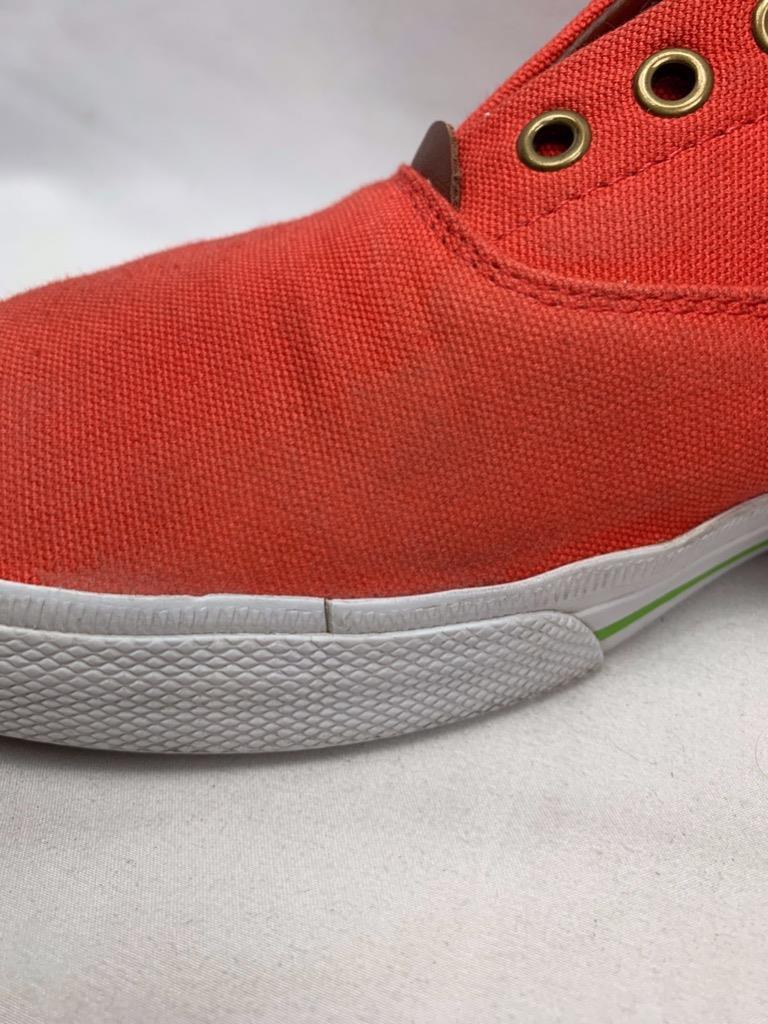 Polo Ralph Lauren Vito Mens Fashion Laceless Sneakers Canvas/Leather Size 12D