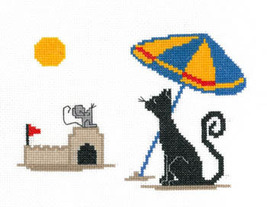 Beach Time Silly Snobs cross stitch chart Imaginating - $5.40