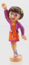 1998 Vintage Polly Pocket Doll CD Player - Lila Bluebird Toys - $6.00