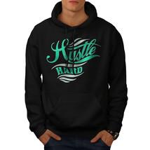 Hustle Hard Text Slogan Sweatshirt Hoody Loyalty Fun Men Hoodie - $20.99+