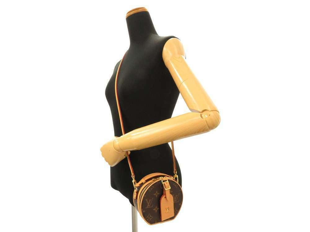 LOUIS VUITTON Mini Boite Chapeau Shoulder Bag Monogram M44699 3Way Bag Authentic image 12