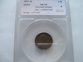 Lincoln Penny , Lot of 8  , Certified - $60.00