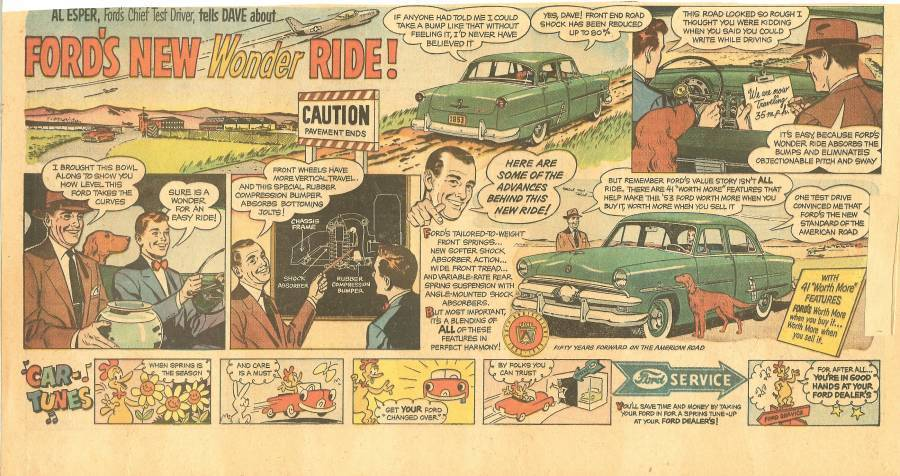 brooklyn dodgers pee wee reese gem razor blade ad ford car 1953 rare