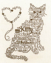 Let's Purr cat cross stitch chart Imaginating - $5.40
